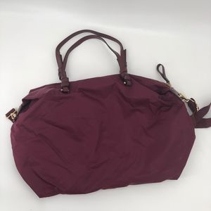 H&M Burgundy Wine Crossbody Duffle Travel Gym Bag